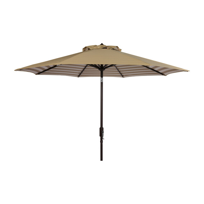 Tiana Inner Stripe Patio Umbrella, Beige