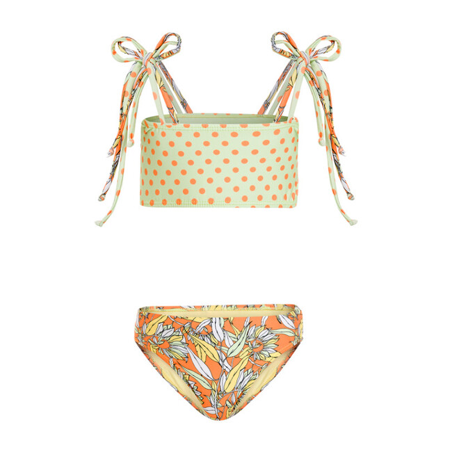 Mila Bikini Le Fleurs Mint & Orange