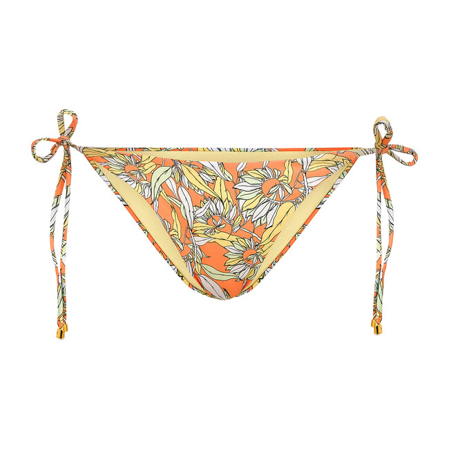 Women's Lola Bikini Bottom, Le Fleurs Mint & Orange