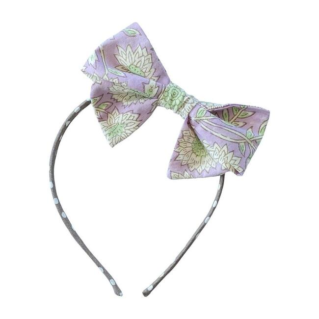 Bloom Bow Headband, Lavender