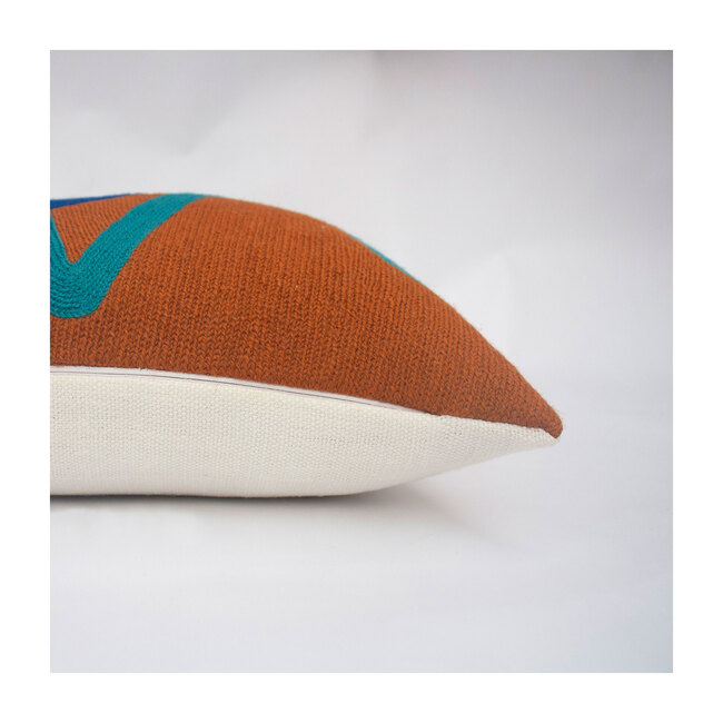 Blah Blah Squiggle Lumbar Pillow, Fawn Multi