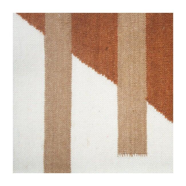 Luna Stripes Wool Rug, Ochre Multi