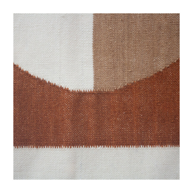 Luna Circle Wool Rug, Ochre Multi