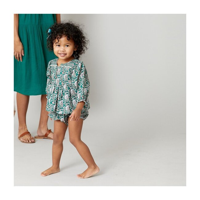 Ava Bella Two Piece Set, Evergreen Floral