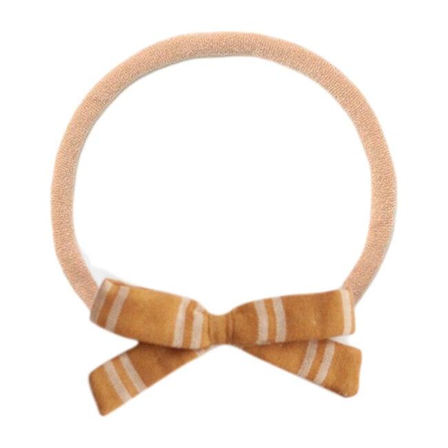 Small Bow , Mustard Stripe