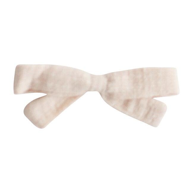 Small Bow Clip, Cream Linen