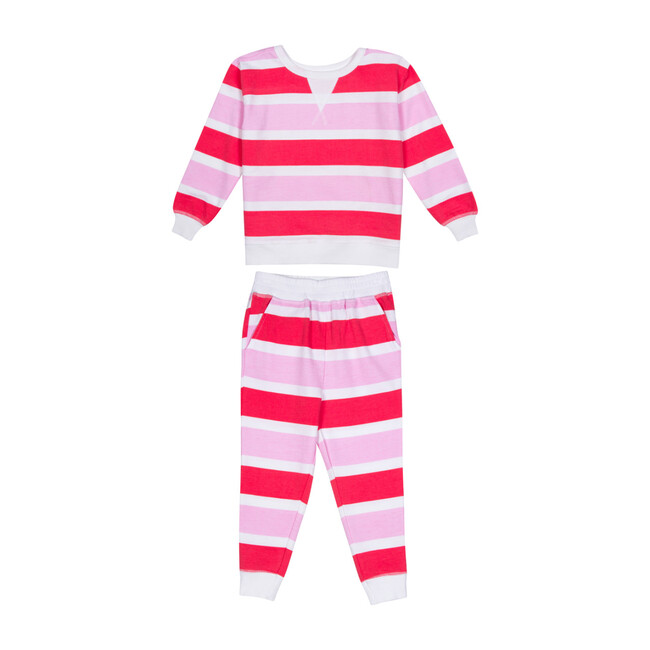 Kids Long Sleeve & Pant Snug Fit Set, Poppy Knit