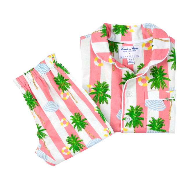 x Gray Malin Kids Long Set, Beach Coral