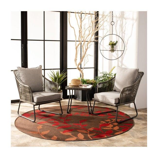 Jensen 3-Piece Rattan Outdoor Lounge Set, Steel/Grey