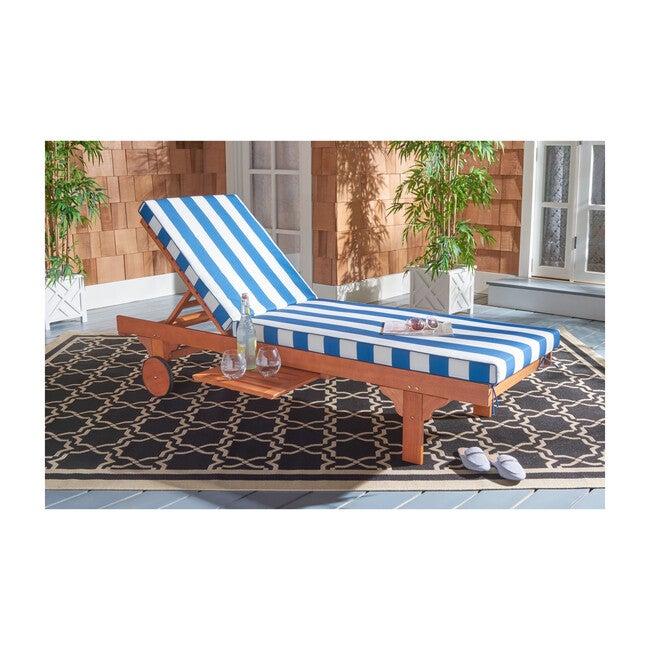 Newport Lounge Chair, Eucalyptus/Blue Canopy Stripe