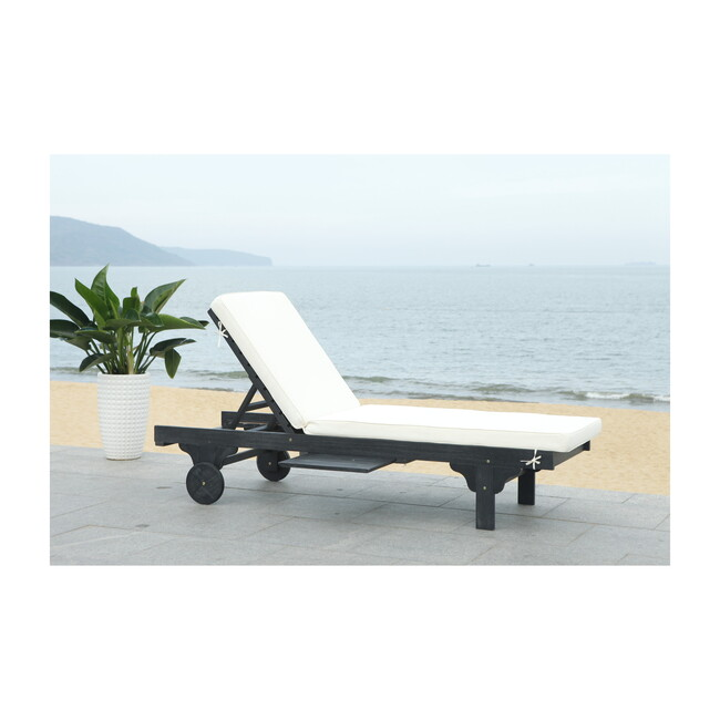 Newport Lounge Chair, Black Eucalyptus/Beige