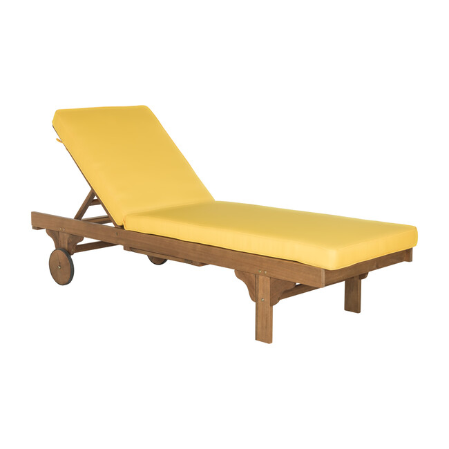 Newport Lounge Chair, Acacia/Yellow