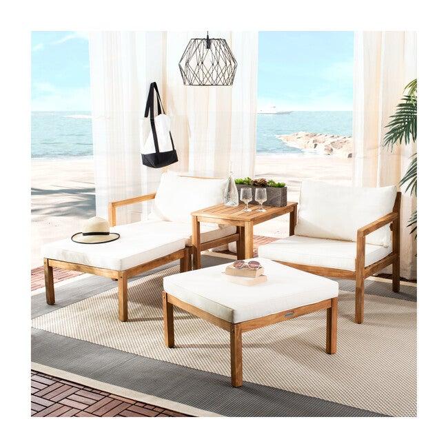 Pratia 5-Piece Outdoor Set, Off-White/Acacia