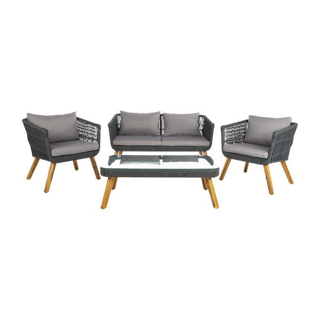 Denridge 4-Piece Outdoor Set, Grey