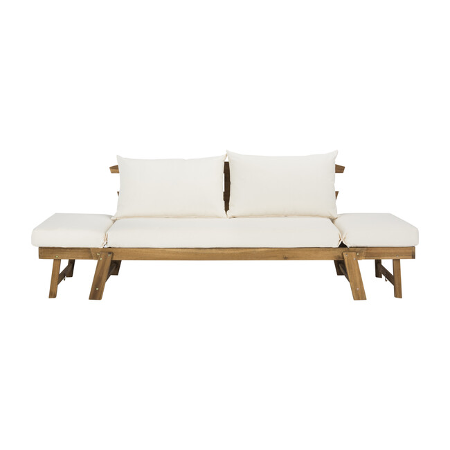 Tandra Outdoor Daybed, Natural Acacia/Beige