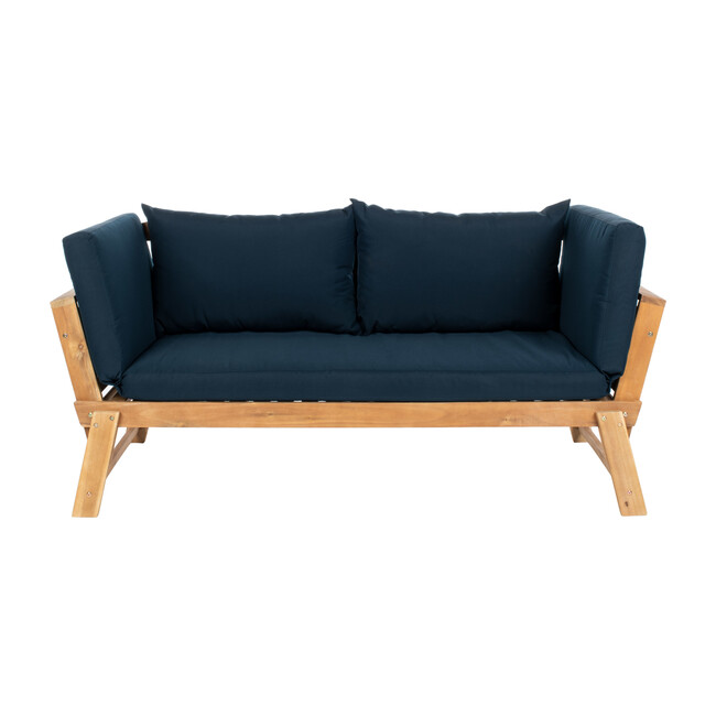 Tandra Outdoor Daybed, Natural Acacia/Navy