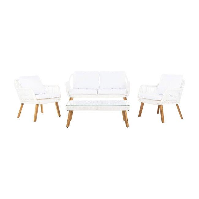 Aldric 4-Piece Outdoor Set, White