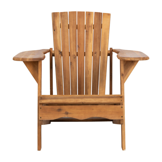 Mopani Adirondack Outdoor Chair, Rich Natural