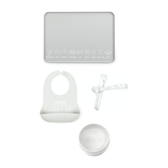 Mealtime Essentials Kit, Marble