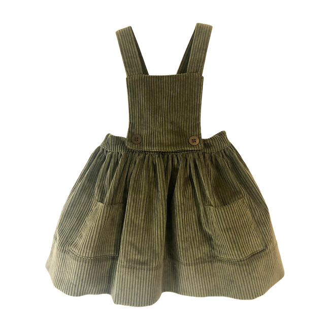 Alejandra Dress, Olive Corduroy
