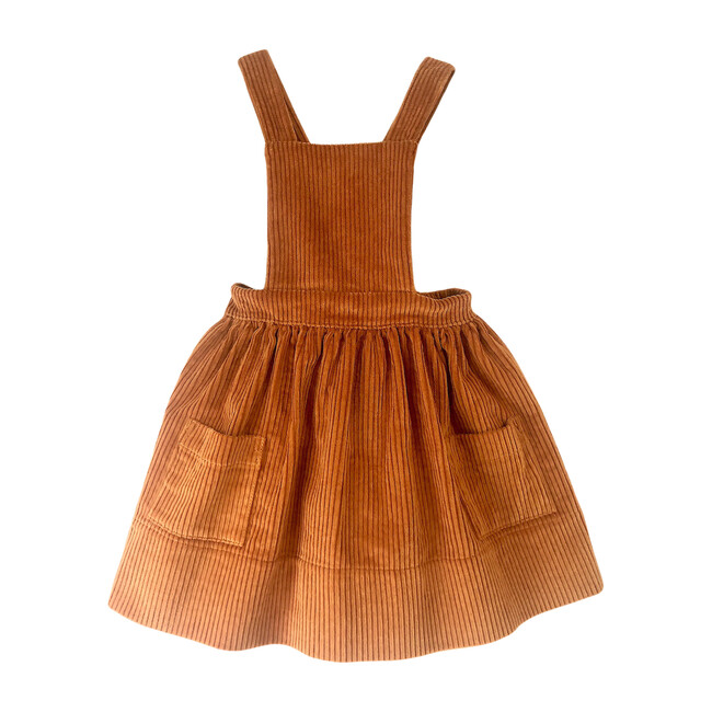 Alejandra Dress, Rust Corduroy