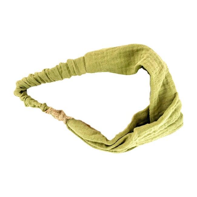Belen Headband, Sage Gauze