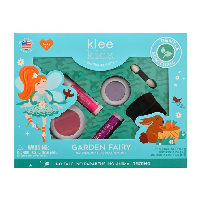 Garden Fairy 4-PC Natural Play Makeup Kit with Pressed Powder Compacts