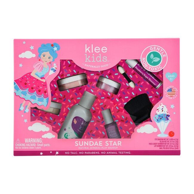 Sundae Star 6-PC Natural Play Makeup Kit with Loose-Powder Makeup
