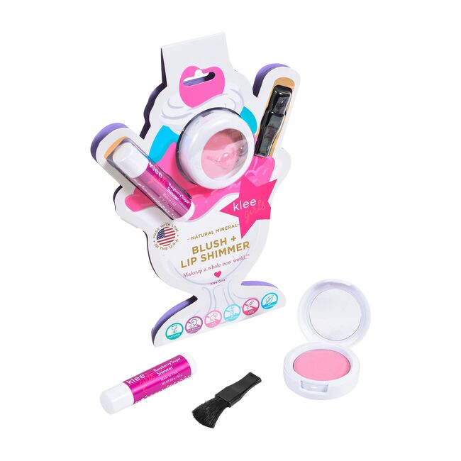 Cotton Candy Glow Natural Blush + Raspberry Lip Shimmer