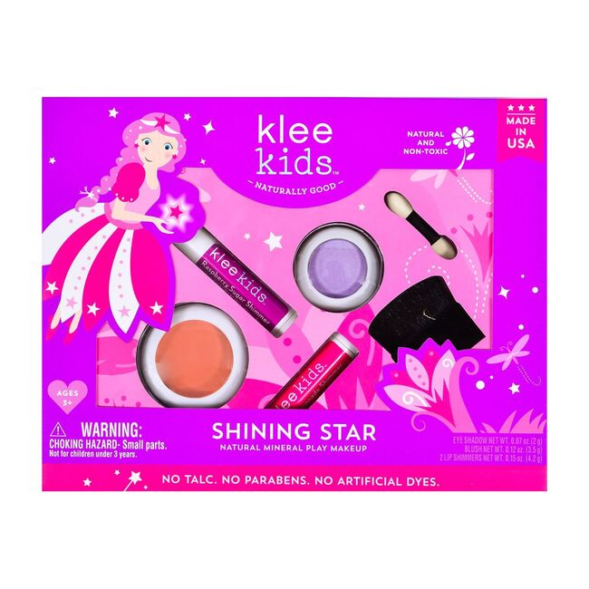 Shining Star 4-Piece Natural Play Makeup Kit with Pressed Powder Compacts