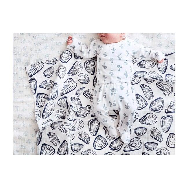Organic Cotton Mini Radish Kimono Set, Bay Blue