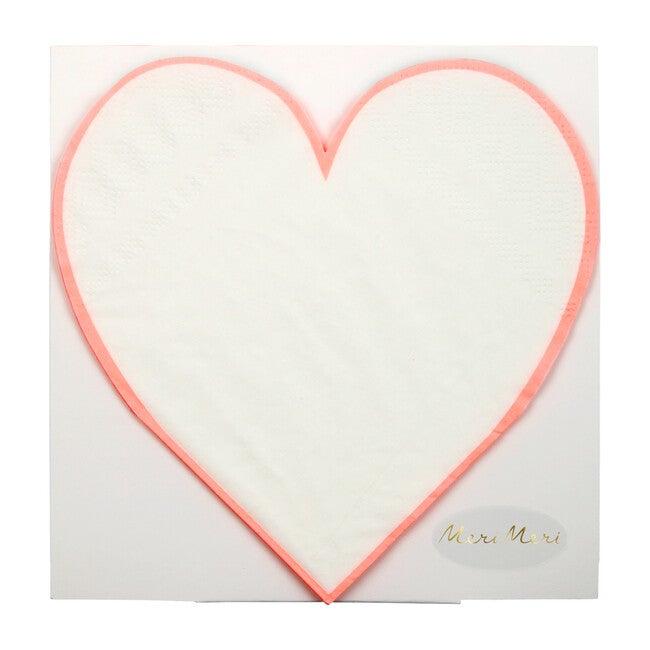 Coral Heart Outline Napkins