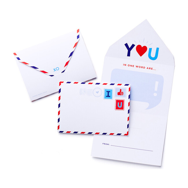 Mini Airmail All-In-One Valentine Card & Envelope