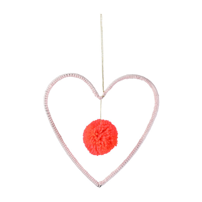 Wire & Wool Heart Decoration - Wall Décor - 1