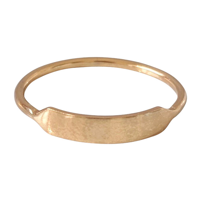 Engravable Stacking Signet Ring