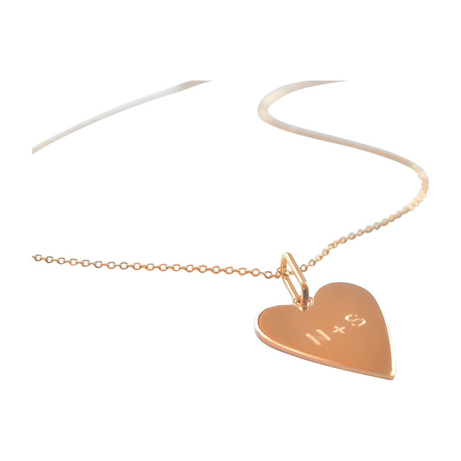 Engravable Amaya Heart Necklace on Curb Chain