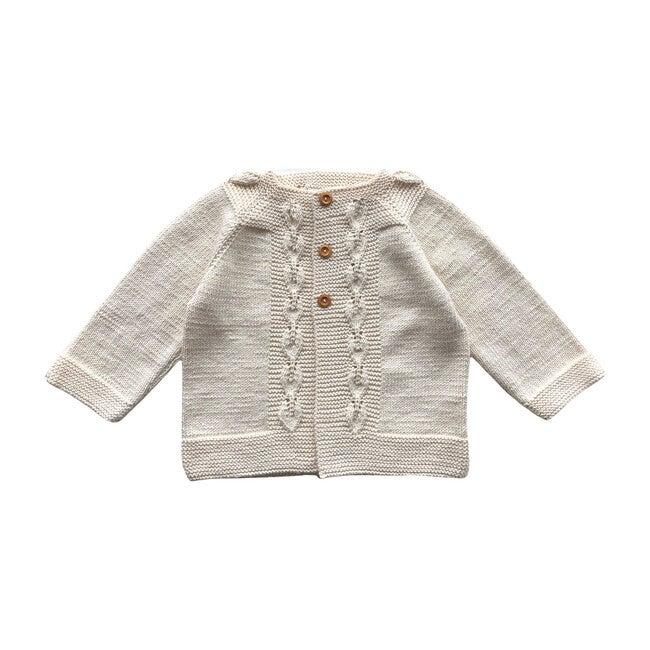 Handknit Flora Sweater, Natural