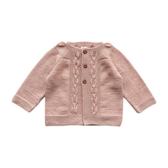 Handknit Flora Sweater, Dusty Pink