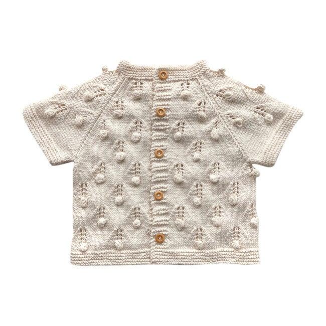 Handknit Bloom Sweater, Natural