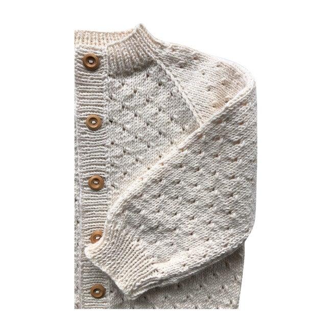 Handknit Linde Largo Sweater, Natural