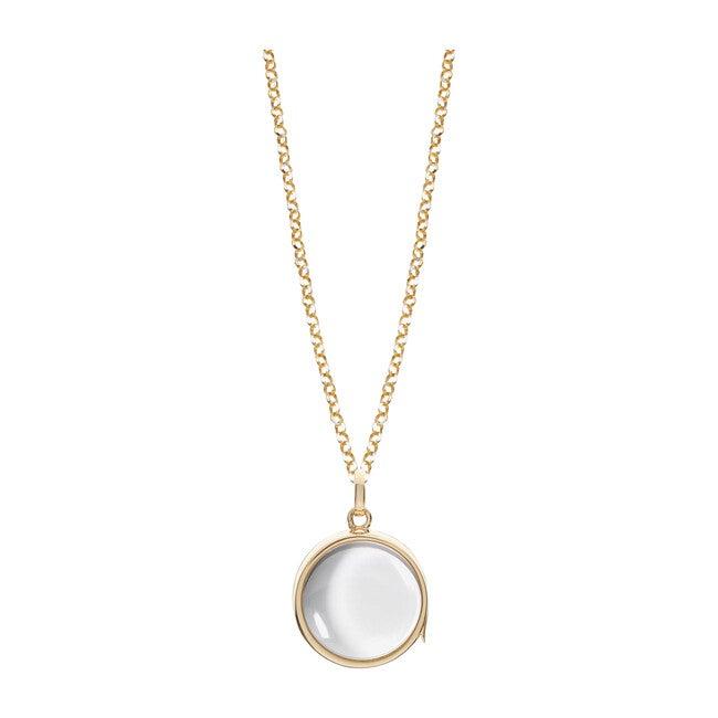 Medium Gold Locket Necklace, 14kt Yellow Gold