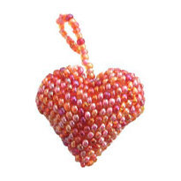 Heart Ornament, Pink