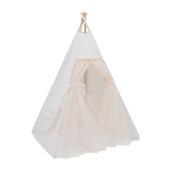 Toria Play Tent, Cream Swiss Dot