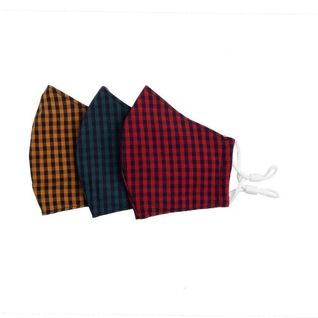 Mini Gingham Mask Bundle, Multi