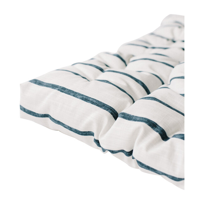 Padded Play Mattress, Blue Stripe