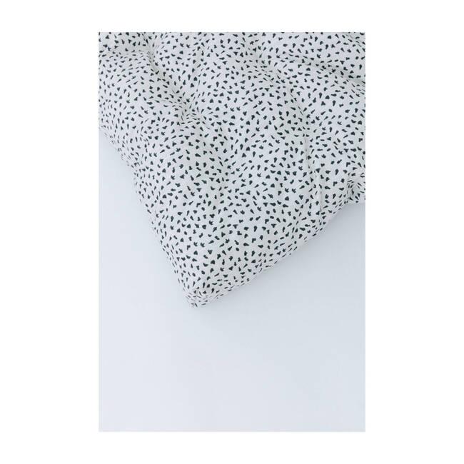 Padded Play Mattress, White/Black Spot