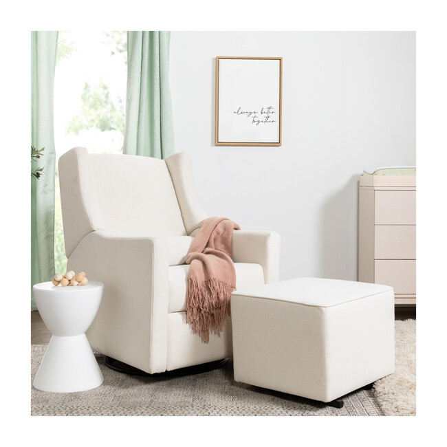 Kiwi Electronic Recliner and Swivel Glider with USB Port, Cream Eco-Performance Fabric