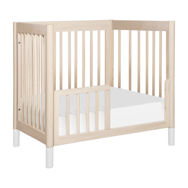 Gelato Mini Toddler Bed Conversion Kit, Washed Natural