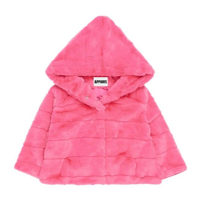 Goldie Faux Fur Jacket, Bubble Pink