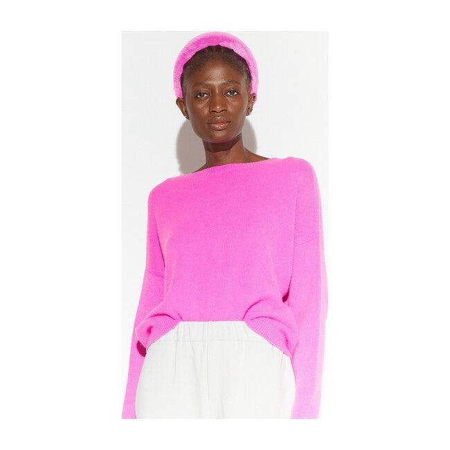Teffi Faux Fur Headband, Bubble Pink
